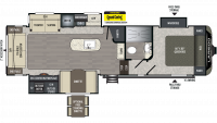 2019 Laredo Super Lite 298SRL Floor Plan