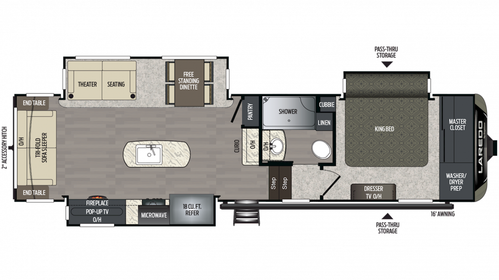 2019 Laredo 310RS Floor Plan Img