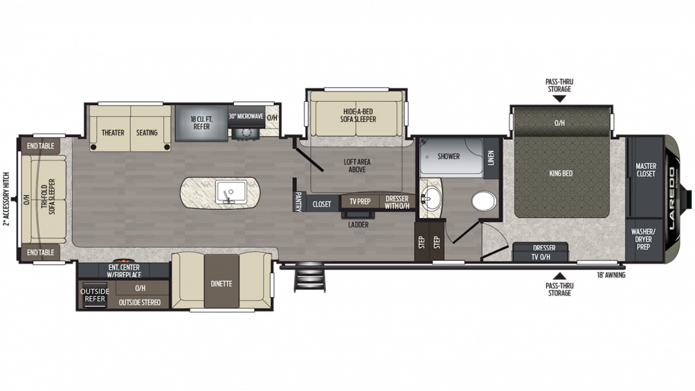 2019 Laredo 380MB Floor Plan Img
