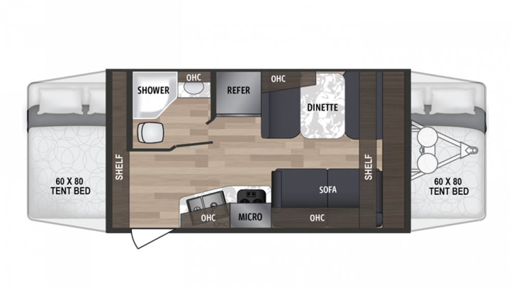 Kodiak Cub 172E Floor Plan - 2020