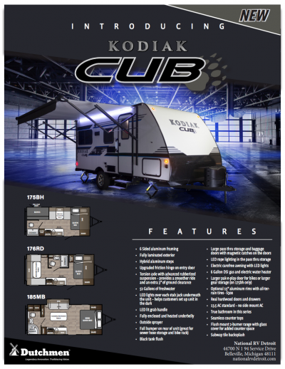 2018 Kodiak Cub Flyer Cover