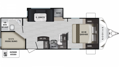 Kodiak Ultra Lite 248BHSL Floor Plan - 2020