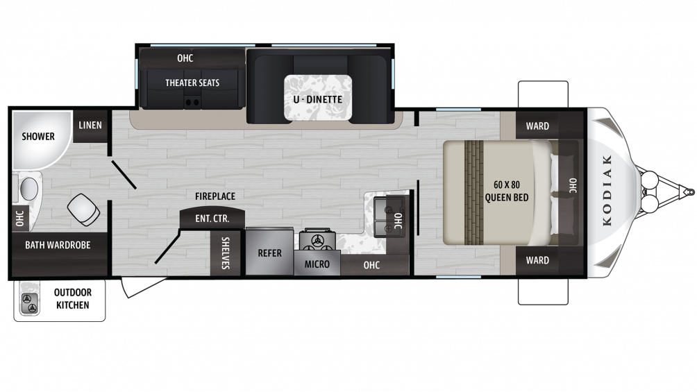 Kodiak Ultra Lite 261RBSL Floor Plan - 2020