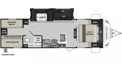 Kodiak Ultra Lite 283BHSL Floor Plan - 2020