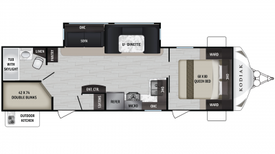 Kodiak Ultra Lite 285BHSL Floor Plan - 2020