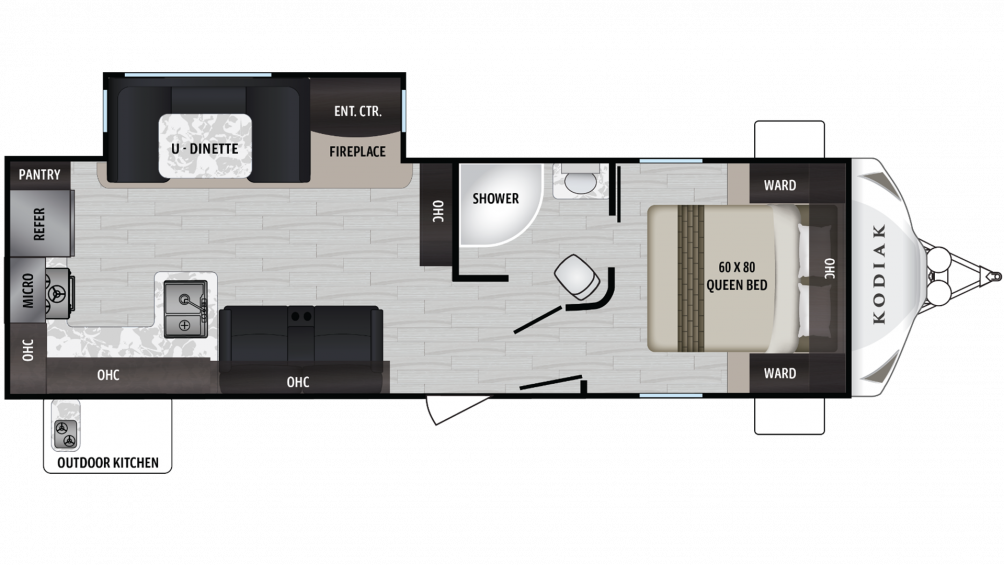 Kodiak Ultra Lite 287RKSL Floor Plan - 2020