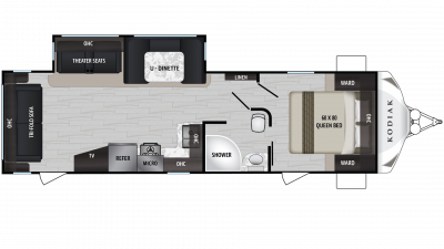 Kodiak Ultra Lite 293RLSL Floor Plan - 2020
