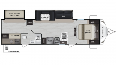 Kodiak Ultra Lite 299BHSL Floor Plan - 2020