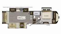 2019 Alpine 3400RS Floor Plan