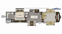 2019 Alpine 3701FL Floor Plan