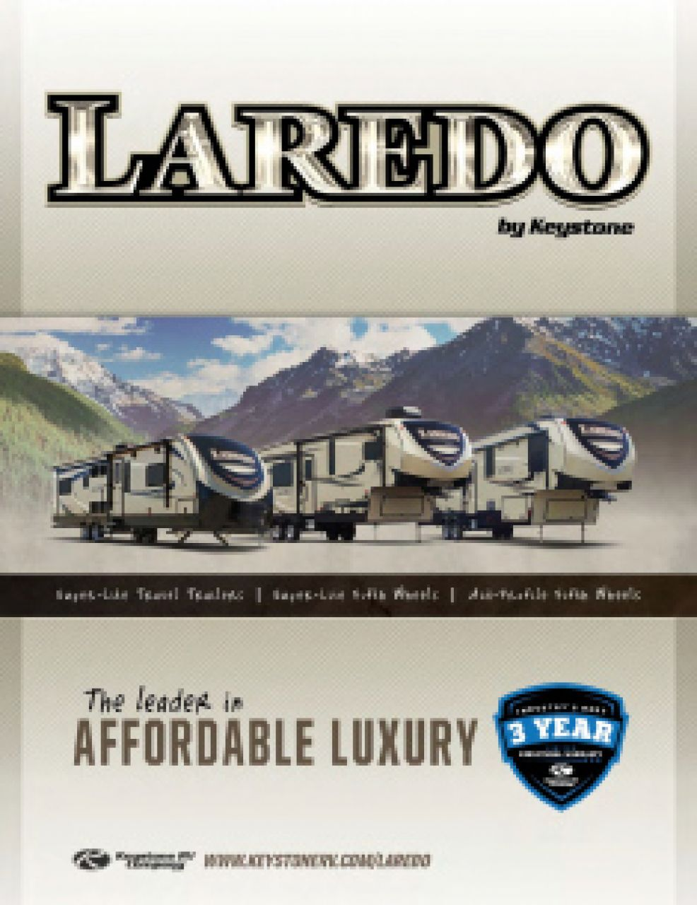 2019 Keystone Laredo RV Brochure Cover