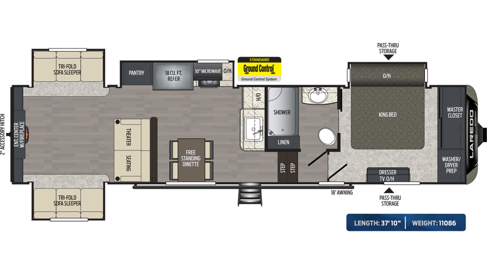 Laredo 342RD Floor Plan - 2020