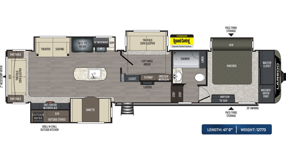 Laredo 380MB Floor Plan - 2020