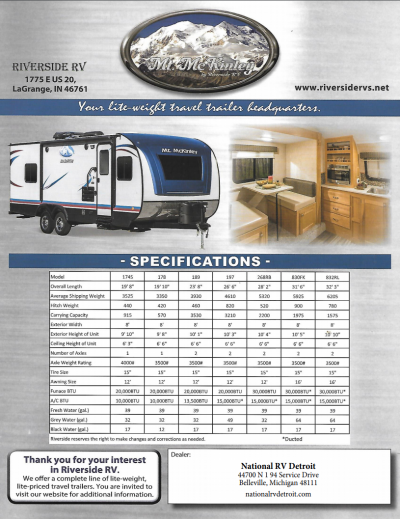 2018 Mt Mckinley Flyer Cover