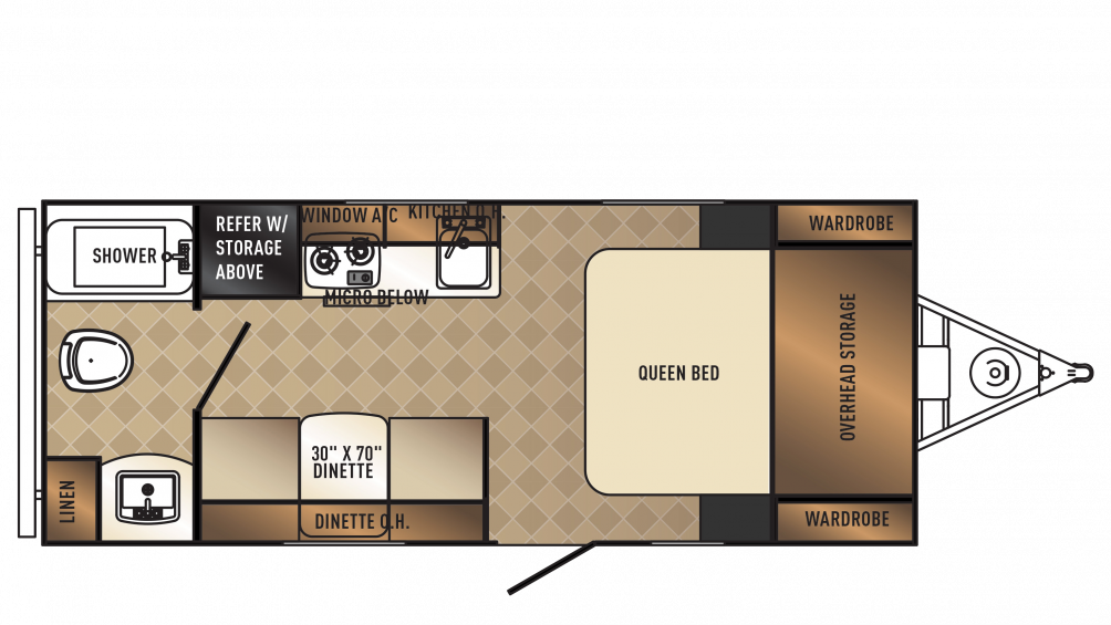 2018 PaloMini 180FB Floor Plan Img