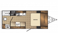 2018 PaloMini 180FB Floor Plan