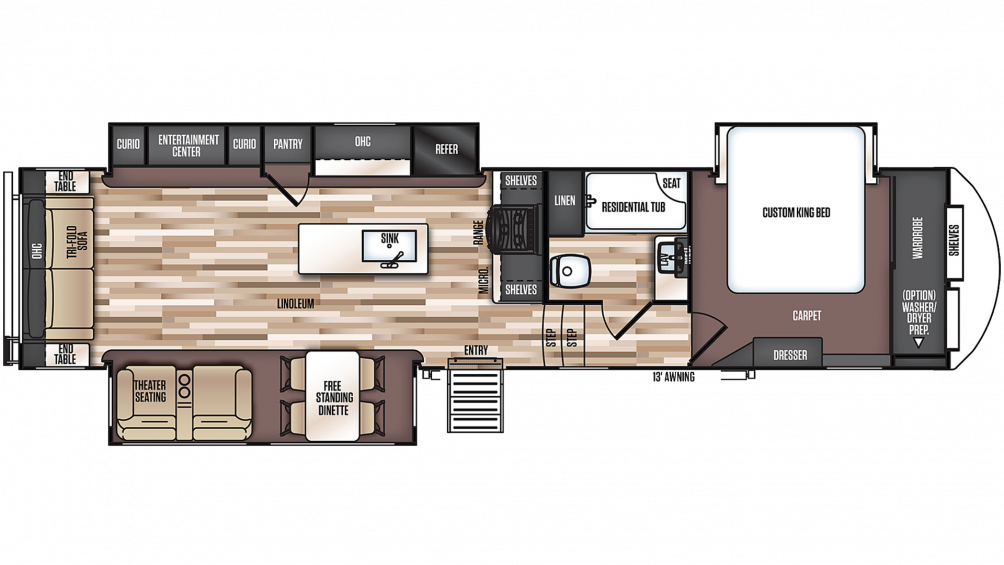 Salem Hemisphere 338BAR Floor Plan - 2020