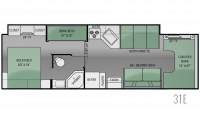 2014 Four Winds 31E Floor Plan