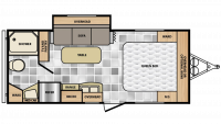 2018 Minnie 2101FBS Floor Plan