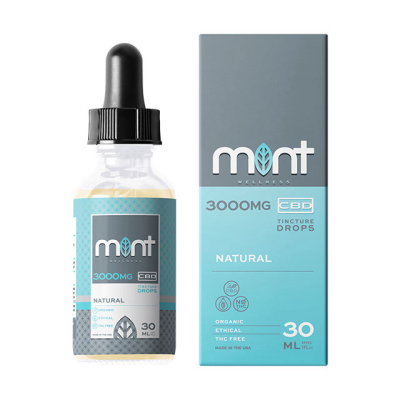 Mint Wellness 3000mg Natural Tincture Drops