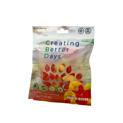 Nano-CBD Gummies Peach Rings Retail Only