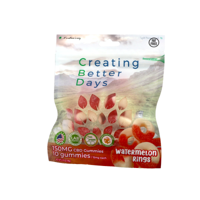 Nano-CBD Gummies Watermelon Rings (Case of 8)