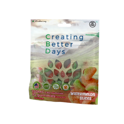 Nano-CBD Gummies Watermelon Slices (Case of 8)