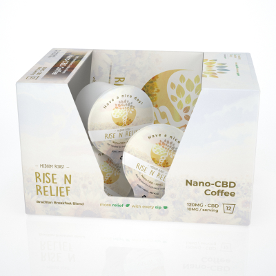 Nano-CBD Coffee Pods 120MG (12 Pods)