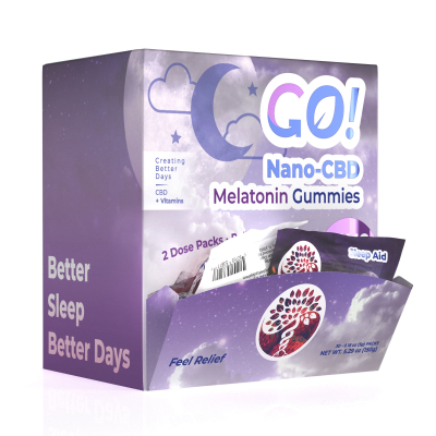 Go! Nano-CBD VitaGummies +Melatonin 20mg (Case of 30)