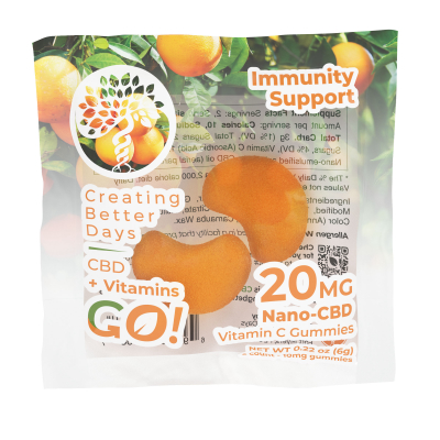 Go! Nano-CBD VitaGummies +Vitamin C 20mg (Case of 30)