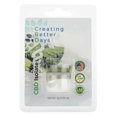 Creating Better Days CBD Isolate 994mg