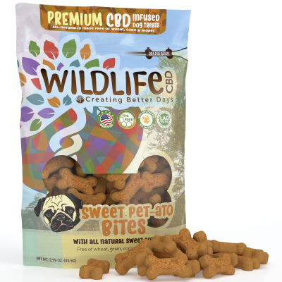 Nano-CBD Premium Dog Treats - Sweet Pet-ato Bites 150mg