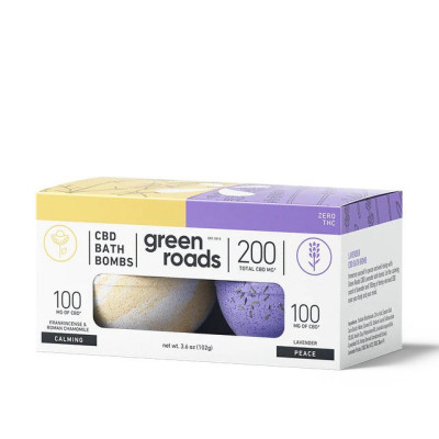 Green Roads 200mg Bath Bomb Duos (Case of 4)
