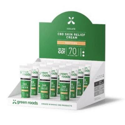 Green Roads Skin Relief Cream 70mg (Case of 12)