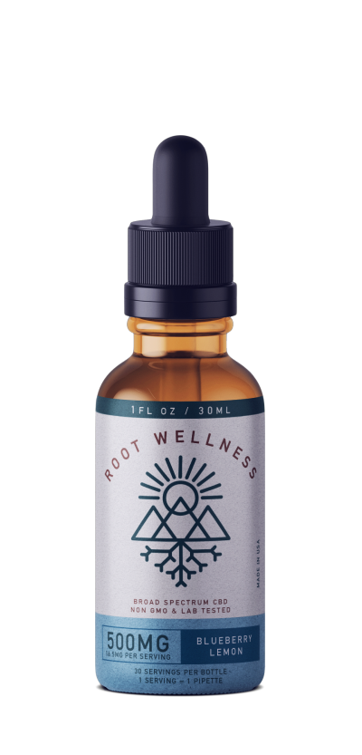Root Wellness Blueberry Lemon Broad Spectrum Tincture