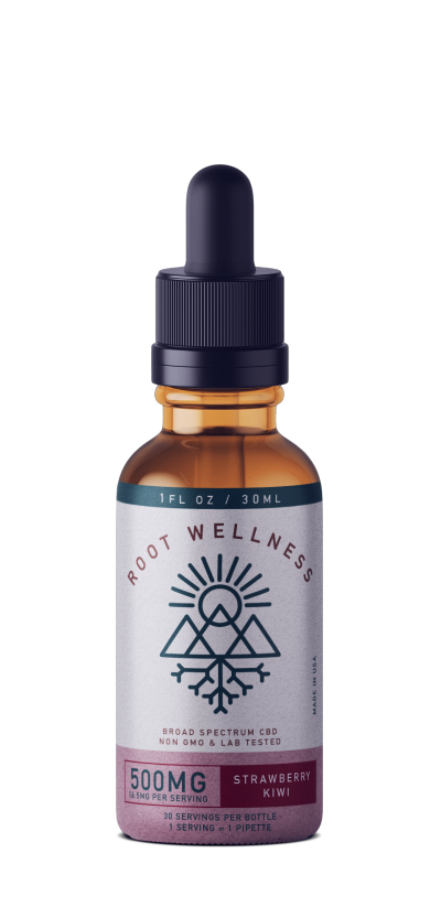 Root Wellness Kiwi Strawberry Broad Spectrum Tincture