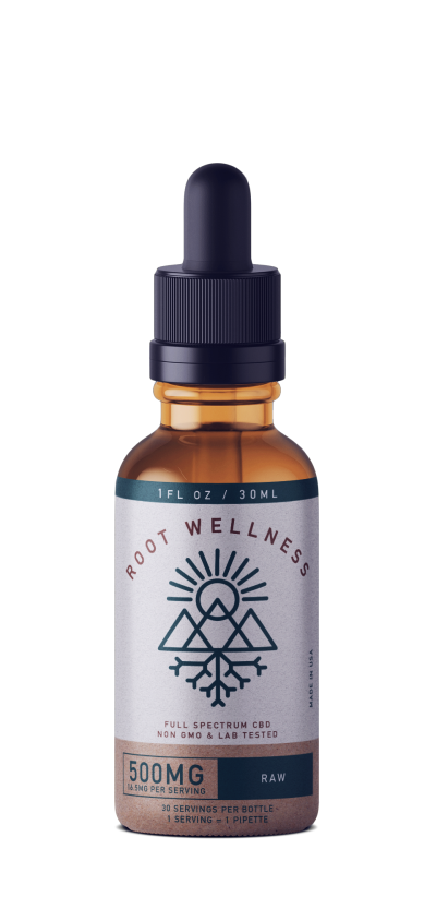 Root Wellness Raw Unflavored Full Spectrum Tincture