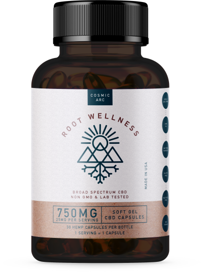 Root Wellness Broad Spectrum Raw Capsules