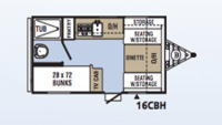 2017 Clipper 16CBH Floor Plan