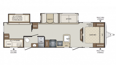 2018 Bullet 308BHS Floor Plan