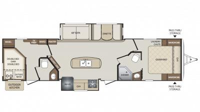 2018 Bullet 330BHS Floor Plan