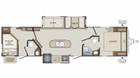 2019 Bullet 330BHS Floor Plan