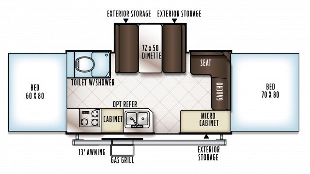 2018 Flagstaff High Wall HW27SC Floor Plan