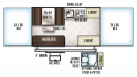 2019 Flagstaff MAC 228 Floor Plan
