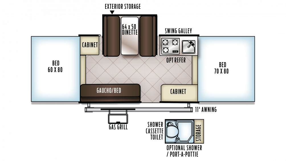 2018 Flagstaff MAC 228D Floor Plan Img
