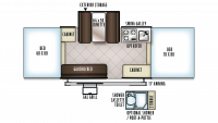 2019 Flagstaff MAC 228D Floor Plan