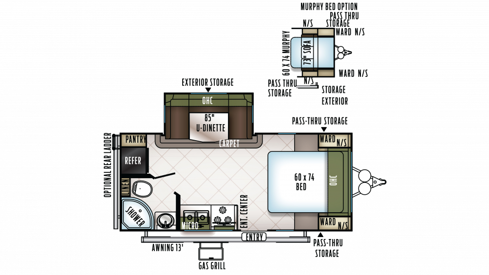 2018 Flagstaff Micro Lite 21DS Floor Plan Img