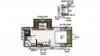 2018 Flagstaff Micro Lite 21DS Floor Plan