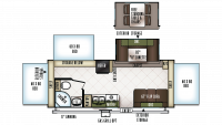 2019 Flagstaff Shamrock 233S Floor Plan