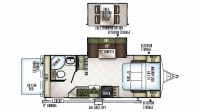 2019 Flagstaff Shamrock 23BDS Floor Plan